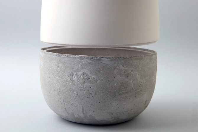 Ceramic And Concrete Vase Doronlivne En