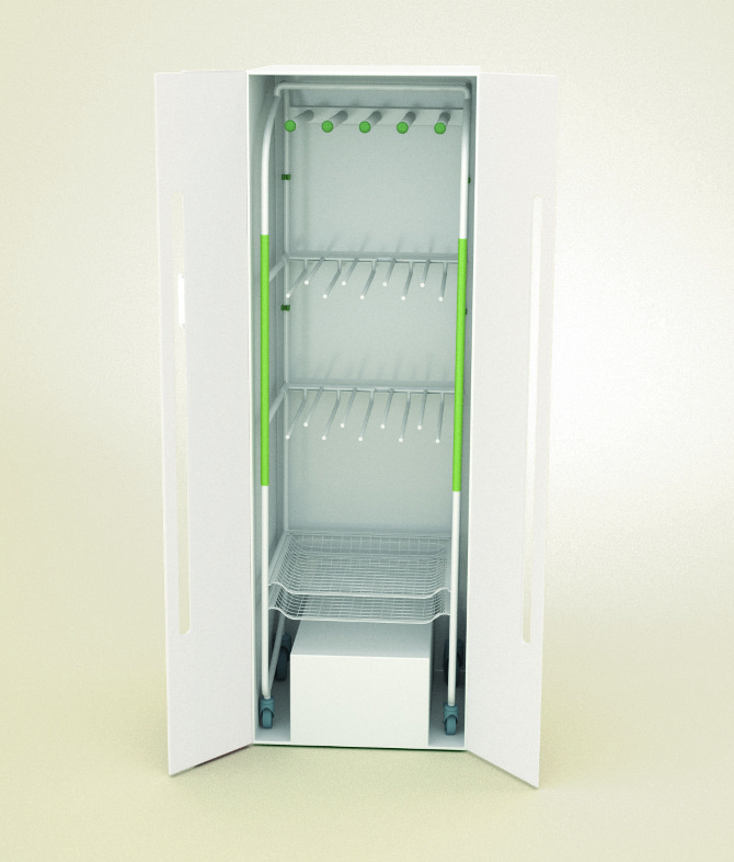Knycer an energy efficient drying cabinet anna for Drying cabinet for clothes